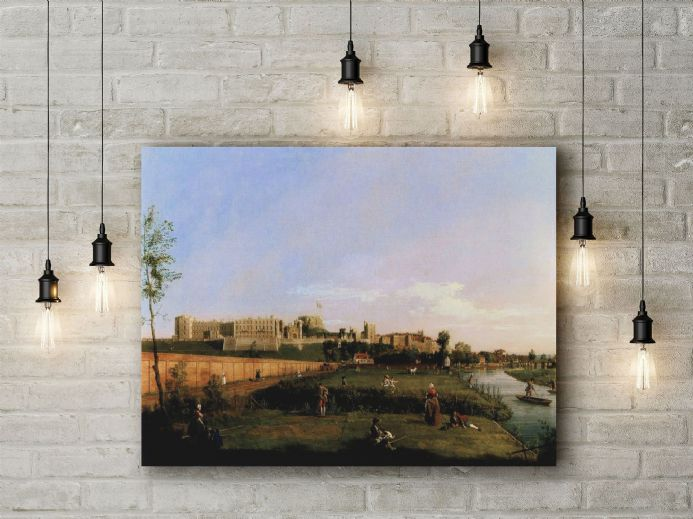 Canaletto: Windsor Castle. Fine Art Canvas.